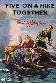 Book cover - Five on a hike together by Enid Blyton